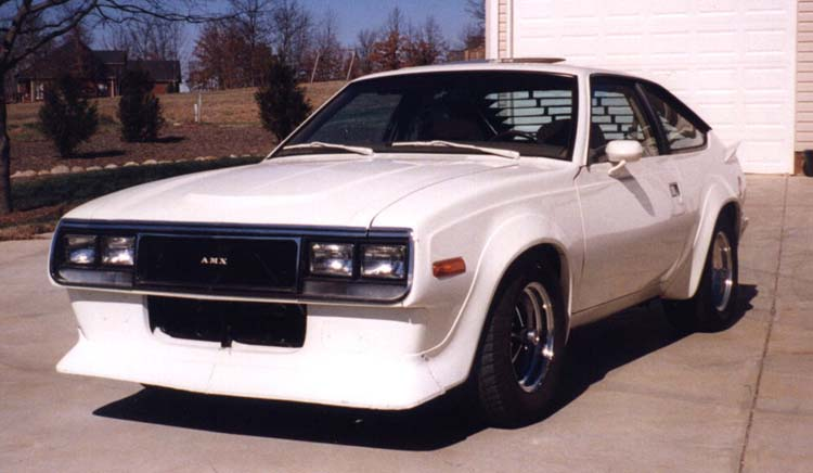 Plans are for a Eagle front bumper and '70 AMX hood scoop